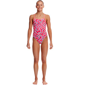 Funkita Single Strap One Piece Swimsuit Girls, red ribbons